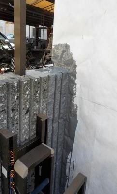 既存の壁の一部を利用した場合