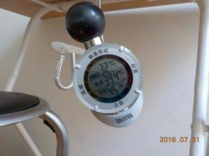 杉原土地のロフトはそんなに暑くない ロフトの温度39.4℃WBGT32℃