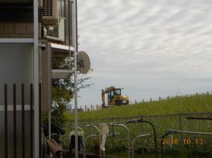 平成28年度藻川堤防の改修工事 堤防うわばの舗装工事