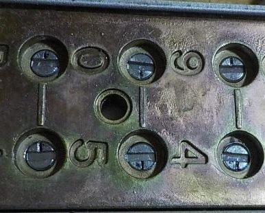 入居者だけのダイヤル錠に変更 ダイヤル5・9を合わせる