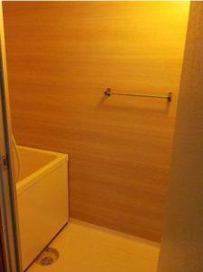 お風呂の壁をリニューアル