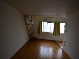 南向き角部屋ロフト付アパート南向き南向きの窓