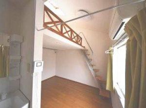 南向き角部屋ロフト付アパートお部屋