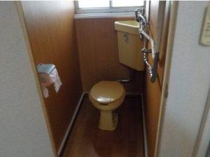 ロフト付アパート トイレ内部工事後