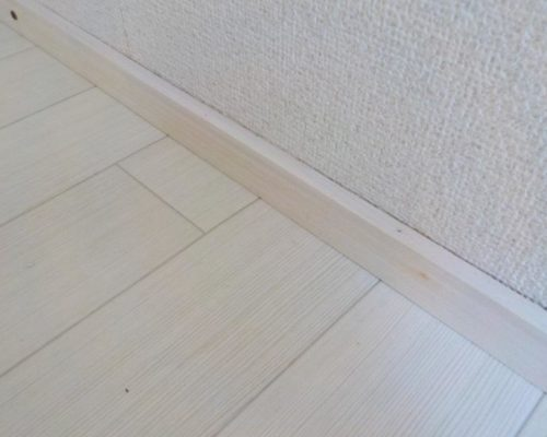 お部屋を広く見せるリフォーム 白い幅木