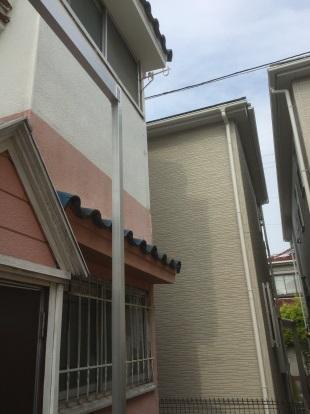 ベランダの自作新設 左側柱の取付